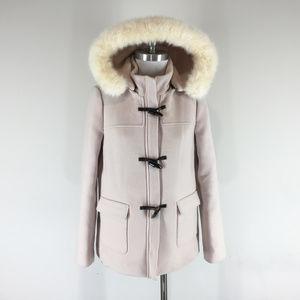 Talbots S 4 Blush pink Champagne Toggle Wool Coat